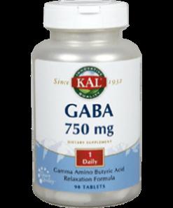 GABA 750 mg 90 Cápsulas Kal